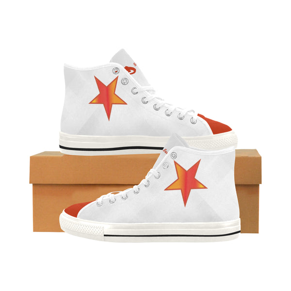 Women's Red Star High Top Canvas Sneakers
