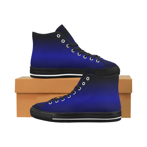 Men's Electric Blue Vancouver High Top Sneakers (Black) - Swamp Kicks