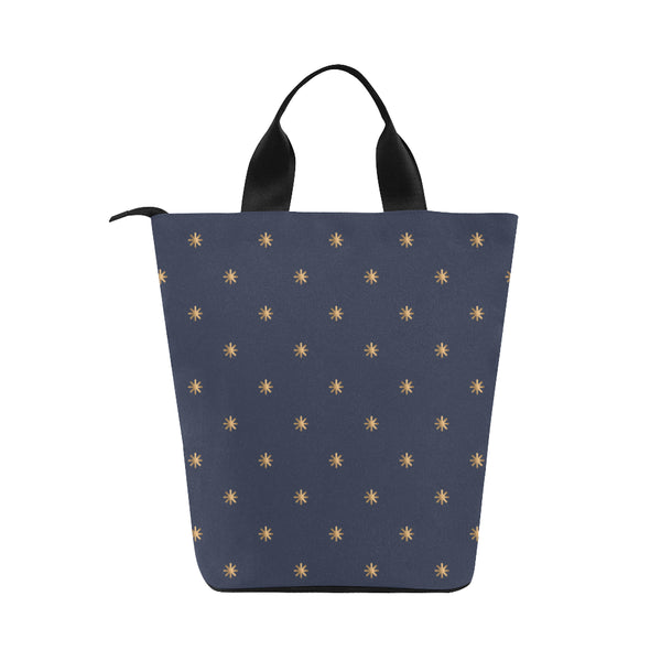 Gold Stars Adult Nylon Cylinder Lunch Bag - Swamp Kicks