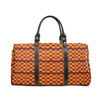 Brown Check Waterproof Travel Bag