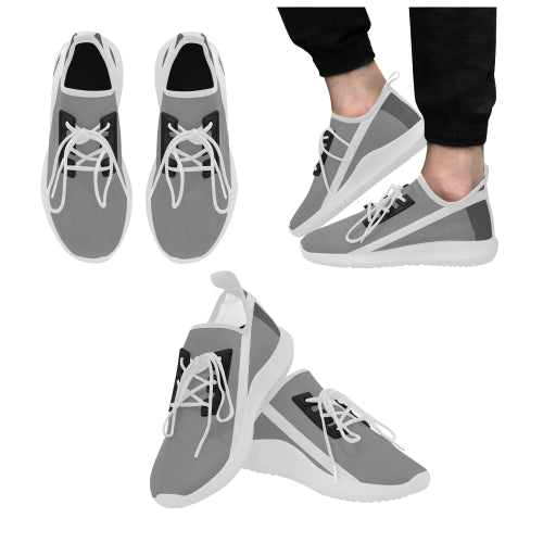 Men's Gray-White Stripe Dolphin Ultra Light Running Shoes