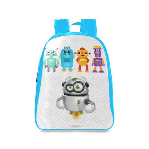 Robots 3 Kids Blue Large School Backpack - Swamp Kicks