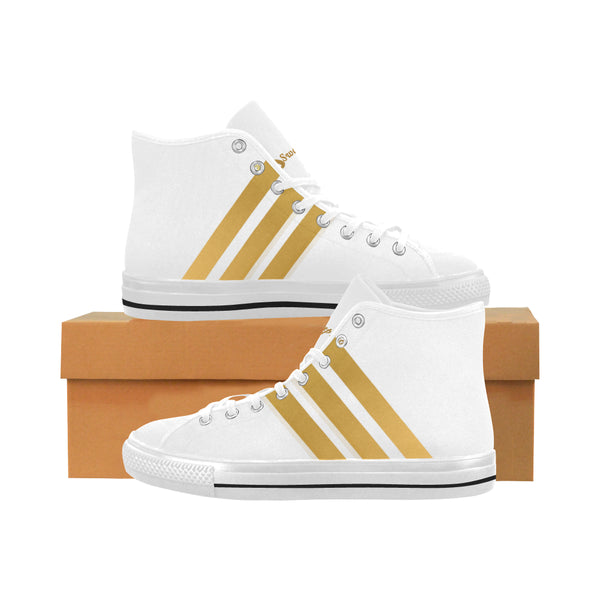 Triple Stripe Men's Vancouver High Top Canvas Sneakers