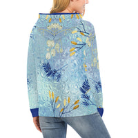 Women's All Over Print Blue Waterfall Hoodie H13 (USA Sizes)
