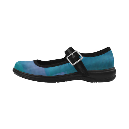 Ocean Blue Mary Jane Women's Flat Shoes