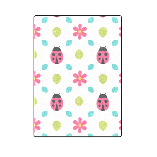 "Baby Bug Bedspread Full-Size Fleece Blanket 58""x 80"""