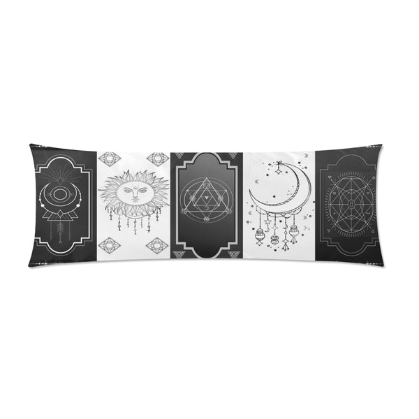 "Alchemy Symbols (Vanilla) Pillow Case 21""x 60"" - Swamp Kicks"
