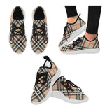 Women's Vintage Check Dolphin Ultra Light Running Shoes - Swamp Kicks