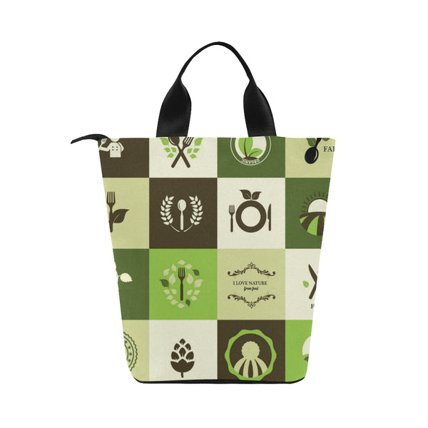 Organic Adult Nylon Cylinder Lunch Bag - Swamp Kicks