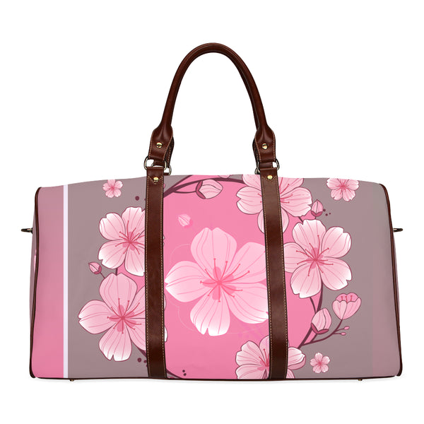 Women's Cherry Blossoms Brown Travel Bag - Swamp Kicks