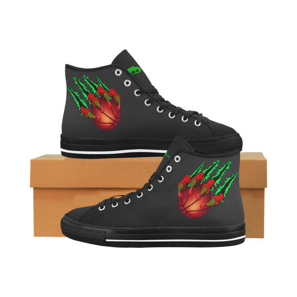 Men's Black Claw Vancouver High Top Canvas Sneakers - Swamp Kicks