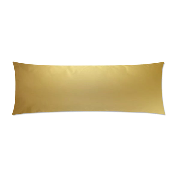 "Gold Body Pillow Case 21""x 60"" - Swamp Kicks"