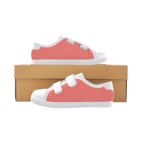Girls Coral Velcro Canvas Sneakers