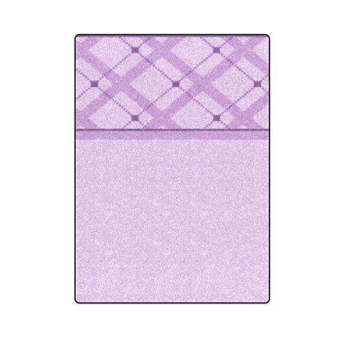 "Lavender Check Bedspread Full-Size Fleece Blanket 58""x 80"""