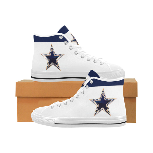 Men's Blue Star Vancouver High Top Canvas Sneakers