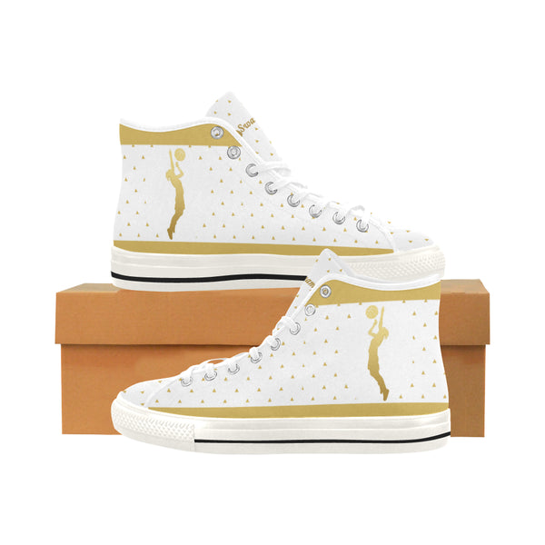 Basketball Women's Vancouver High Top Canvas Shoes - Swamp Kicks