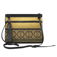 Black & Gold Slim Clutch Bag - Swamp Kicks