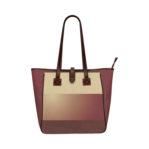 Women's Cranberry Shoulder Strap Tote Bag