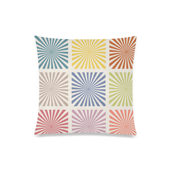 "Sunrays Square Throw Pillow Cover 20""x 20"" - Swamp Kicks"