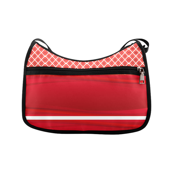 Red Check Women's Fashion Shoulder Handbag