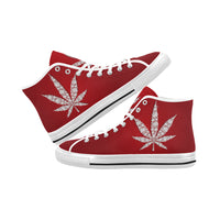 Men's Red 420 High Top Canvas Sneakers