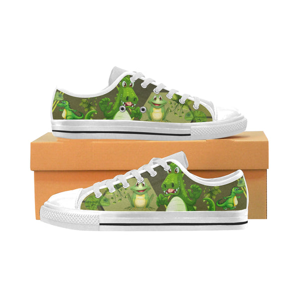 Kids Alligator Aquila Low Top Sneakers - Swamp Kicks