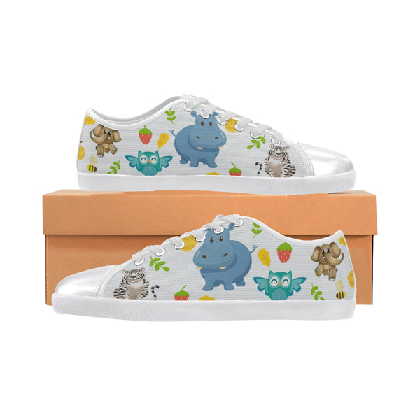 Kids Happy Hippo Canvas Shoes - Swamp Kicks