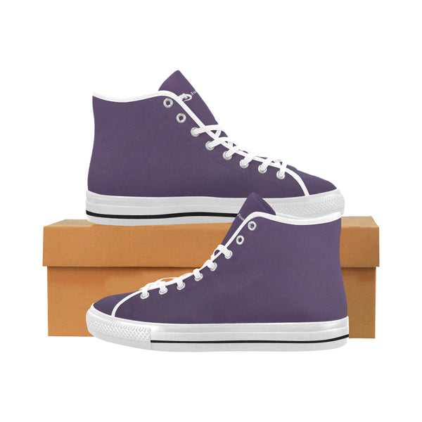 Men's Vancouver High-Top Purple Canvas Sneakers - Swamp Kicks