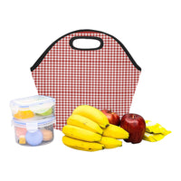 Red Gingham Adult Small Neoprene Lunch Bag
