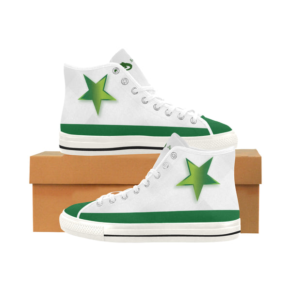 Women's Green Star Vancouver High Top Canvas Women's Sneakers