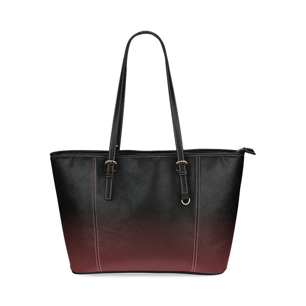 Midnight Black Small Leather Tote Bag