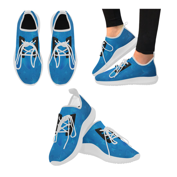 Women's Blue Butterflies Dolphin Ultra Light Running Shoes - Swamp Kicks