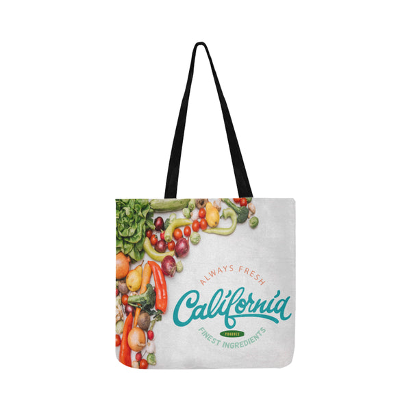 California Fresh Reusable Lightweight Grocery Shopping Tote Bag