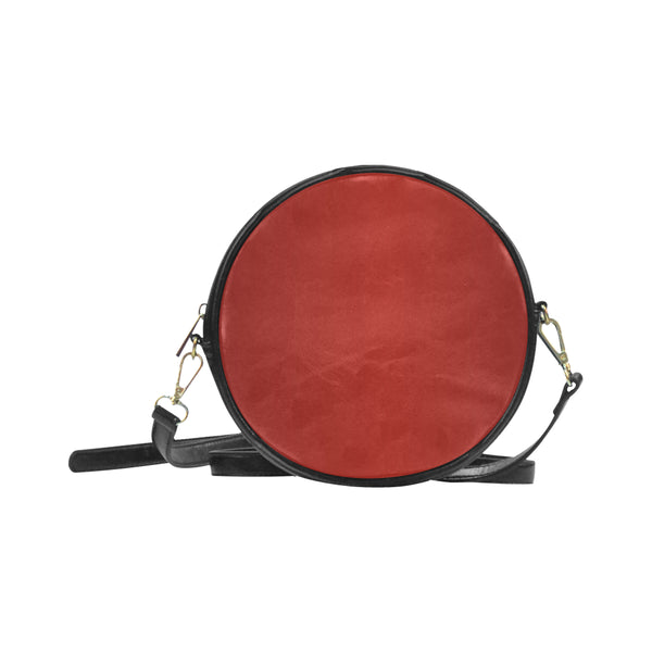 Ruby Red Round Messenger Bag