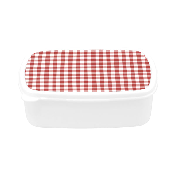 Red Gingham Children's Lunch Box