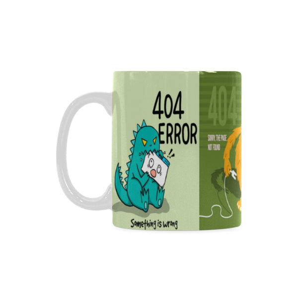 404 Error Classic White Coffee Mug 11 oz. - Swamp Kicks