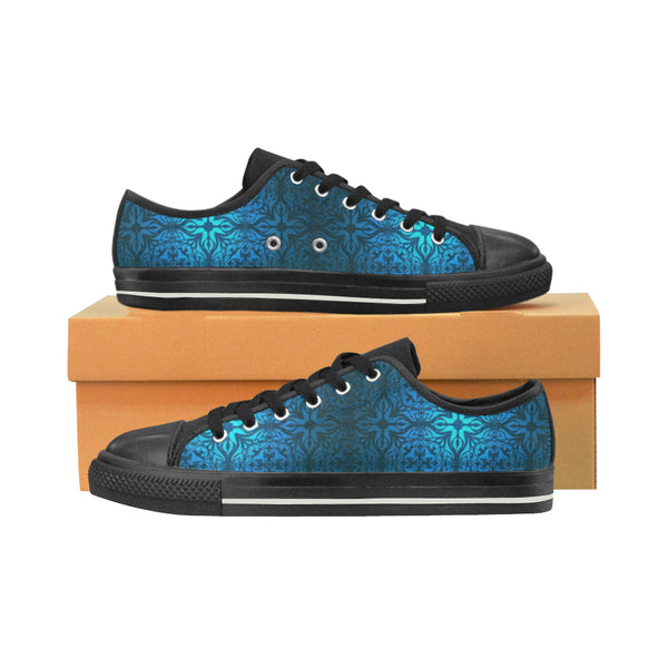 Men's Blue Damask Aquila Canvas Shoes - Swamp Kicks