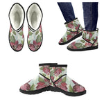 Women's Winter Flowers Low Top Snow Boots