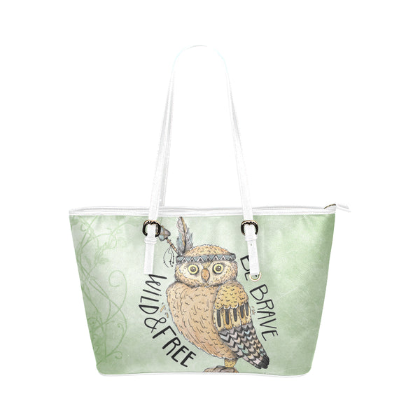 Wild & Free White Leather Tote Bag - Swamp Kicks