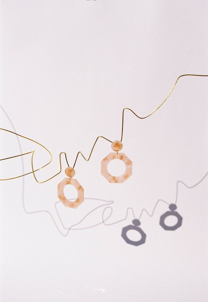 Apres Ski, Earrings Clef Iced Pink