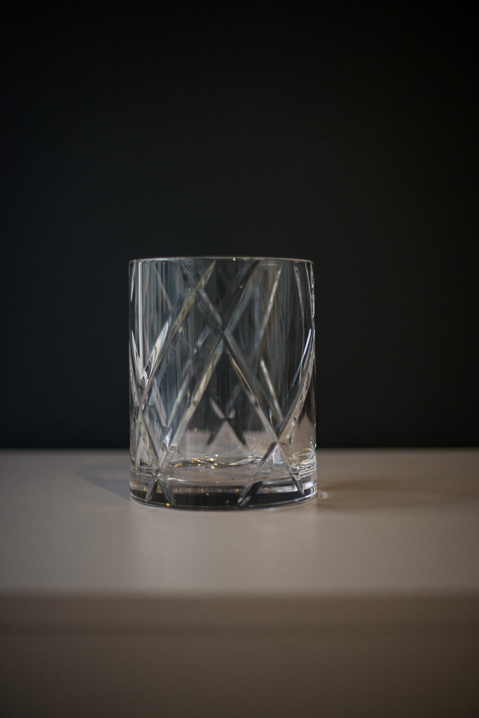 Ljuslykta, Candle holder, Hurricane, Crystal, Kristall, Clear, medium, Skogsberg & Smart, Magnus Skogsberg, 28 Q 28 Quadrat, Stockholm, Sverige, Sweden, interior design, handblåst, handblown,  glas, glass, bronze