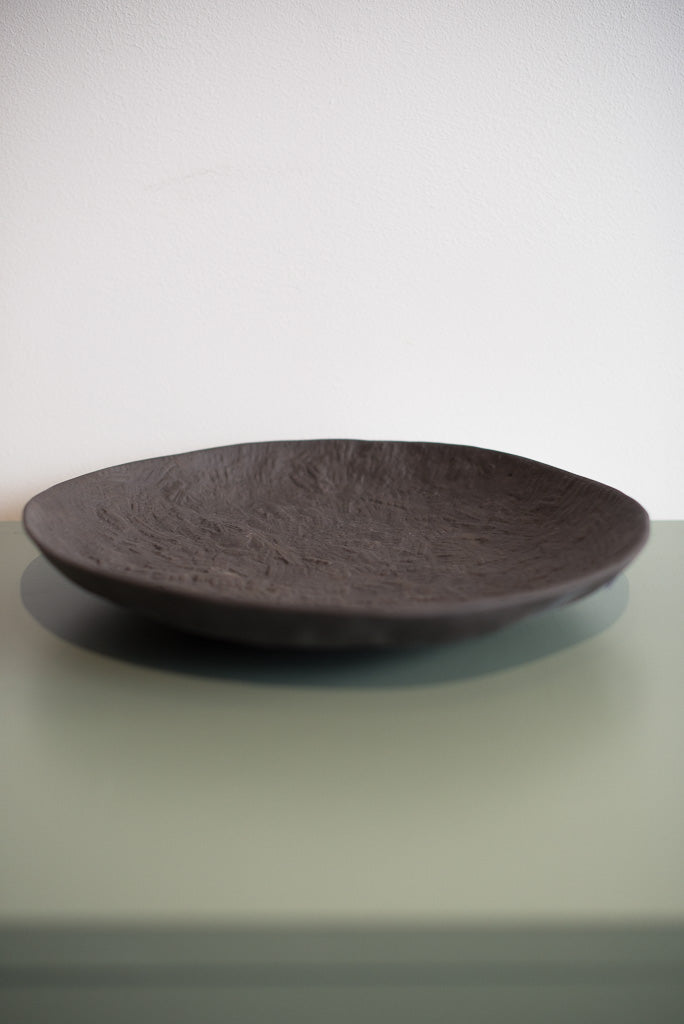 Black Large Platter, 1882 Ltd.