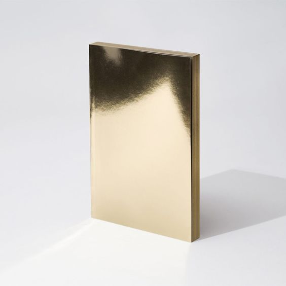 Writesketchand, Metal Notebook - Gold Lingotto