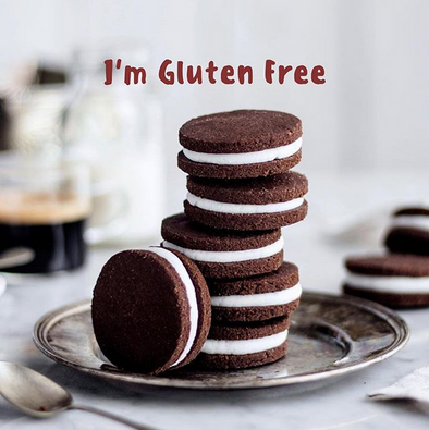 Gluten Free Vegan Oreo Cookies made with EarthNutri Organic Gluten Free All Purpose Flour.