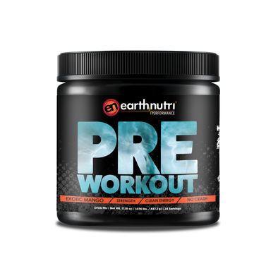 earthnutri preworkout Exotic Mango no crash