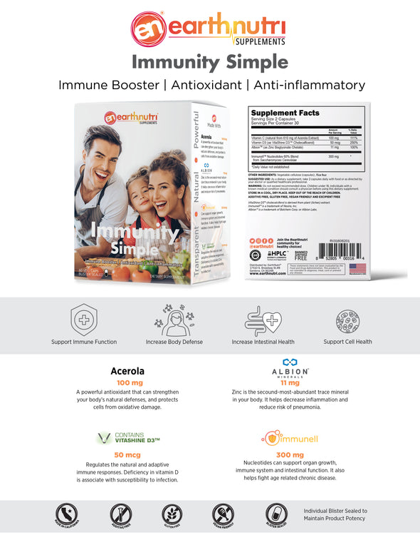earthnutri - immunlty simple specs info