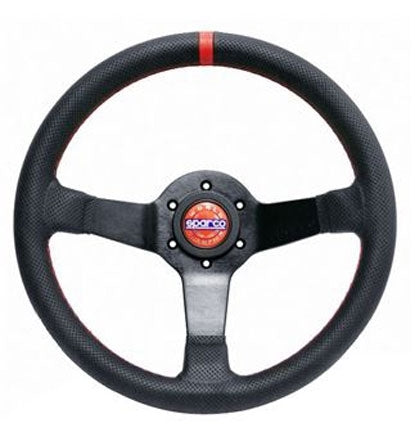 Sparco 330mm Steering Wheel Champion Limited Edition Street Black w/ Black Perforated Leather Universal