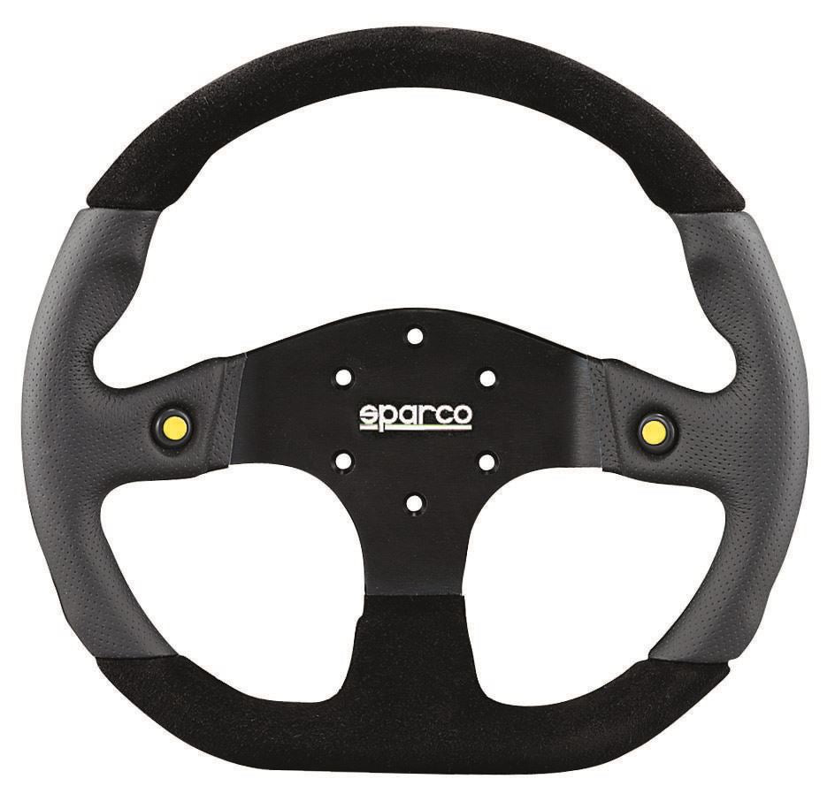 Sparco 330mm Steering Wheel L999 Street Wheel Black w/ Leather/Suede Universal