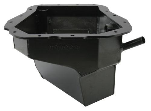 Moroso Steel Oil Pan w/ Pickup Black 6.0 Quart Capacity Subaru 2002-2014 WRX / 2004-2014 STI