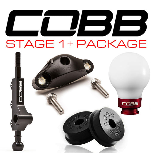 Cobb Tuning Stage 1+ Drivetrain Package 5-Speed w/ Factory Short Shifter White Knob w/ Race Red Subaru 2002-2007 WRX
